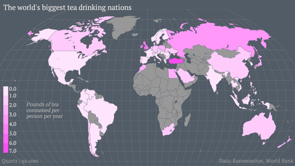 Which country has the highest tea consumption per capita? 1