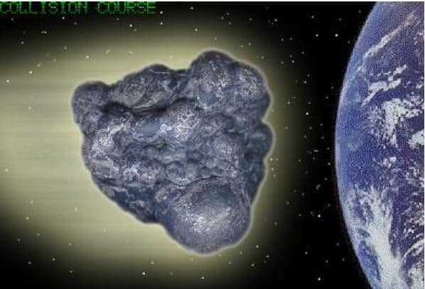 Asteroid on course with the earth