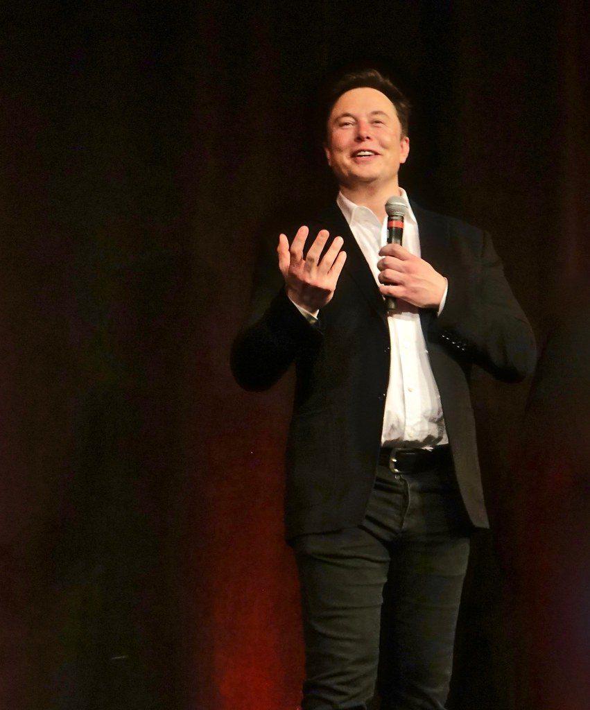 Elon Musk giving speech