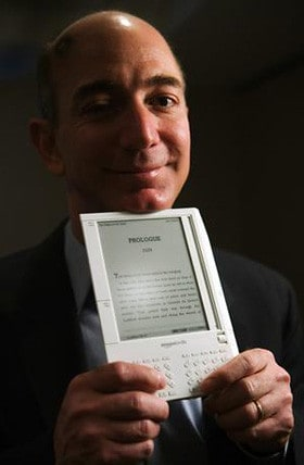 Jeff Bezos with Kindle