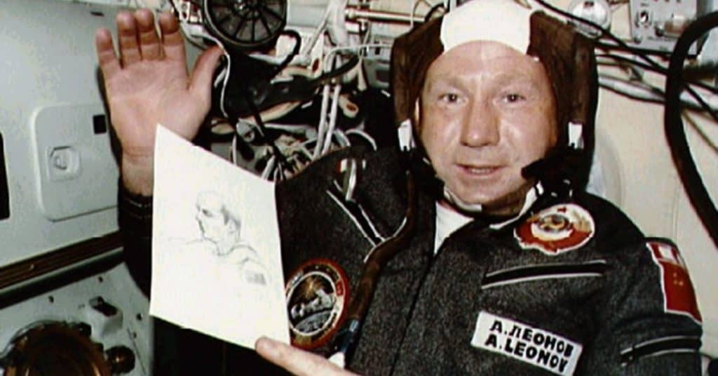 Alexei Leonov aboard his space shuttle