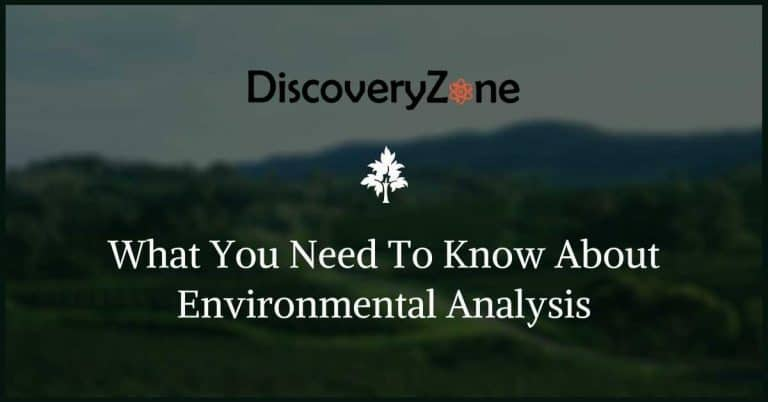 What You Need To Know About Environmental Analysis